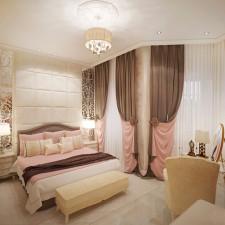 интерьер спальни для девушки. вид 1
