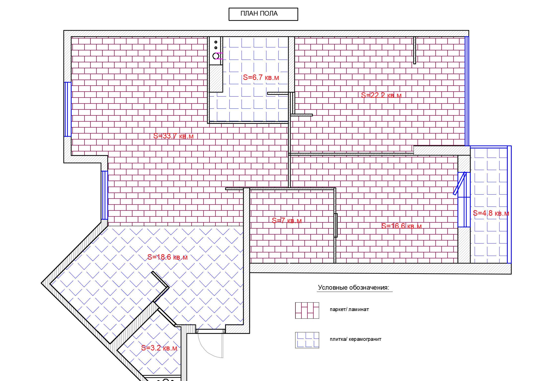 план полов в квартире